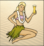 Maui Bikini Blonde Lager Beer