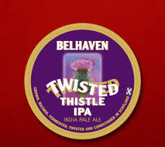Belhaven Twisted Thistle IPA beer Label Full Size