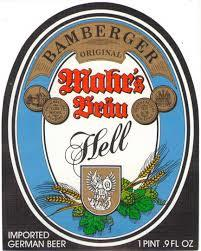 Mahr's Hell Helles Lager beer Label Full Size