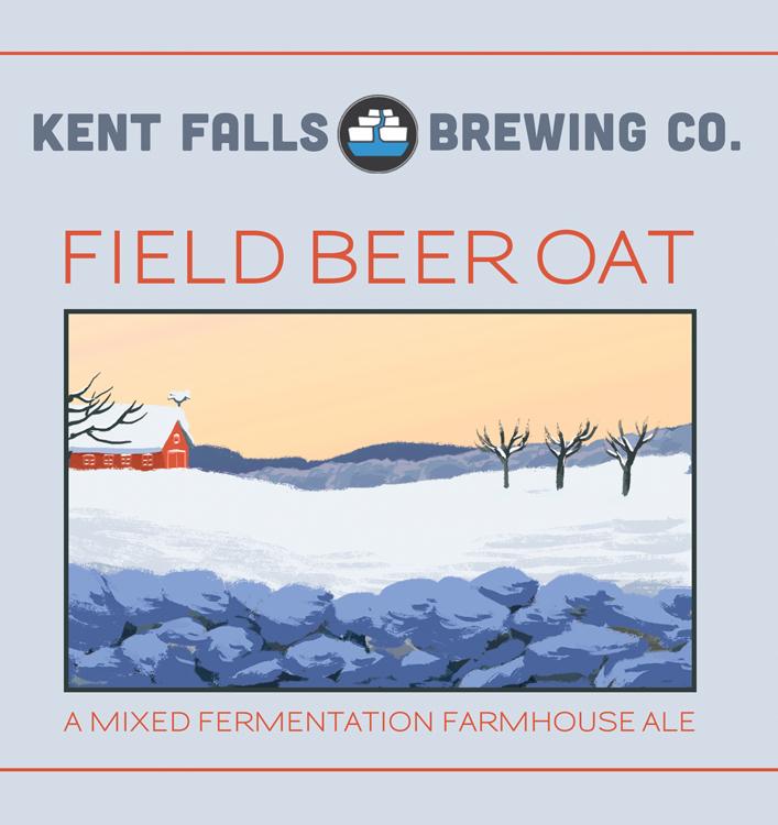 Kent Falls Field Beer Oats beer Label Full Size