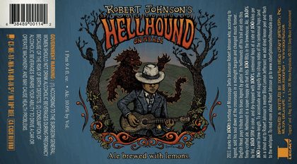 Dogfish Head Hellhound On My Ale beer Label Full Size