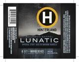 Hinterland 20th Anniversary Bourbon Barrel Aged Lunatic Stout Beer