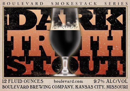Boulevard Dark Truth Stout beer Label Full Size