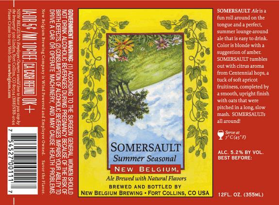 New Belgium Somersault beer Label Full Size