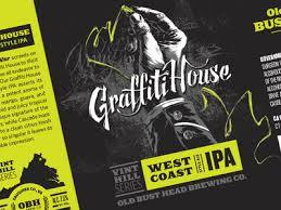 Old Bust Head Graffiti House IPA beer Label Full Size
