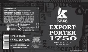 Brouwerij Kees Export Porter 1750 Beer