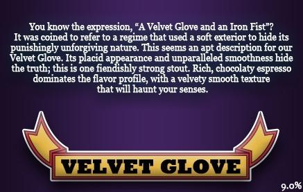 Iron Fist Velvet Glove Stout beer Label Full Size
