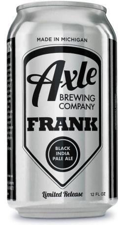 Axle Frank Black IPA beer Label Full Size