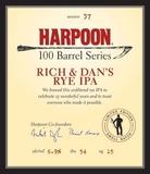 Harpoon Rich and Dan's Rye IPA beer
