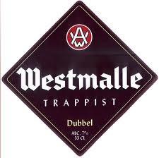 Westmalle Dubbel beer Label Full Size