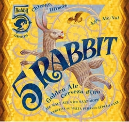 5 Rabbit Golden Ale beer Label Full Size