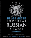 Stone Belgo Anise Imperial Russian Stout beer