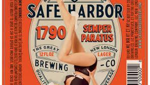 Safe Harbor 1790 Lager beer Label Full Size