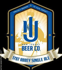 NJ Beer Co 1787 Abbey SIngle beer Label Full Size