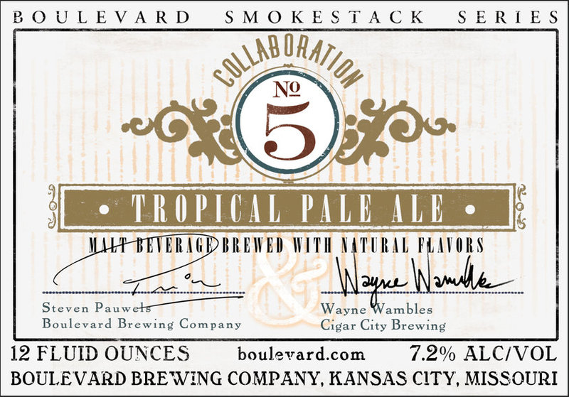 Boulevard + Cigar City Collaboration No. 5 Tropical Pale Ale beer Label Full Size