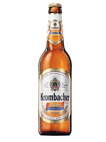 Krombacher Weizen beer Label Full Size
