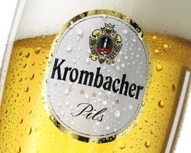 Krombacher Pils beer Label Full Size