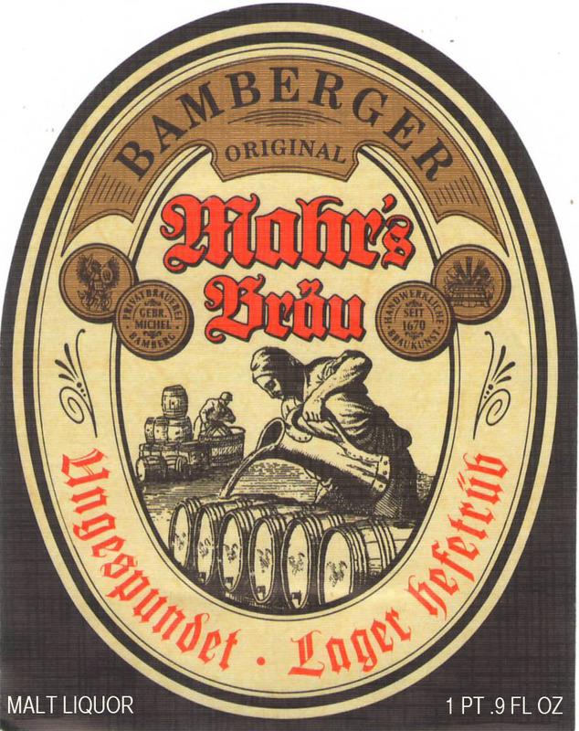 Mahrs Ungespundet Lager beer Label Full Size