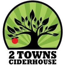 2 Towns Brightcider beer Label Full Size