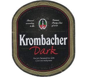 Krombacher Dark beer Label Full Size