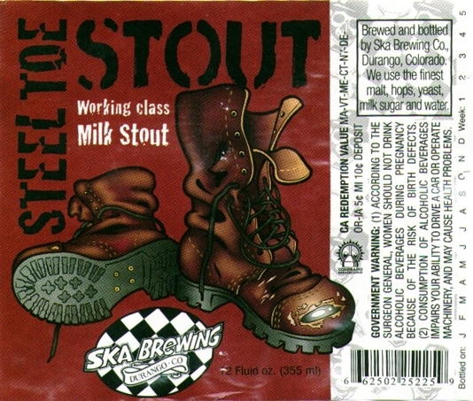 Ska Steel Toe Stout beer Label Full Size