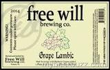 Free Will Barbera Grape Sour beer