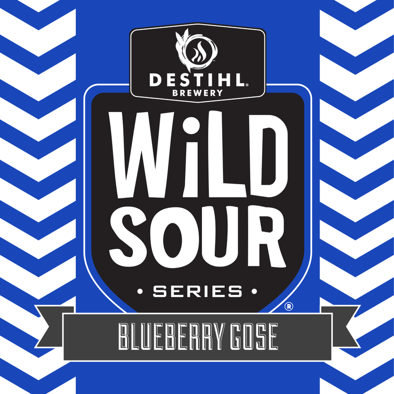 Destihl Wild Sour Series: Blueberry Gose beer Label Full Size