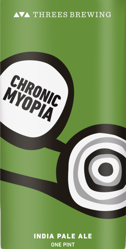 Threes Chronic Myopia beer Label Full Size