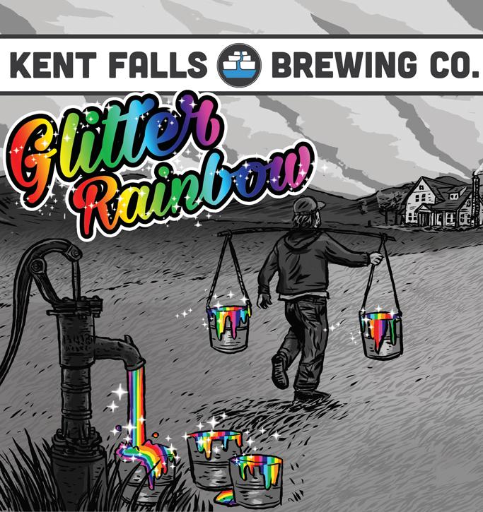 Kent Falls Glitter Rainbow beer Label Full Size