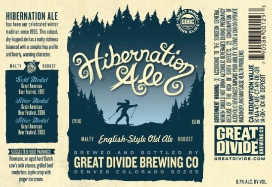 Great Divide Hibernation Ale beer Label Full Size