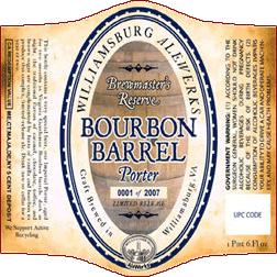 AleWerks Bourbon Barrel Porter beer Label Full Size