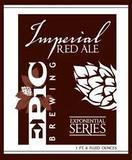 Epic Imperial Red Ale beer