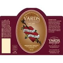 Yards Chocolate Love beer Label Full Size