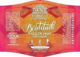 Council Beautitude Passion Fruit beer Label Full Size