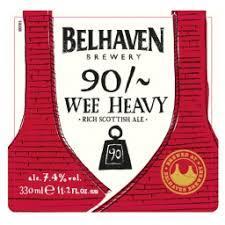 Belhaven 90/~ Wee Heavy Nitro beer Label Full Size