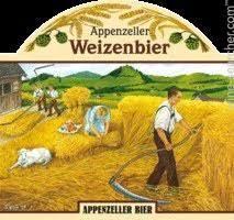 Appenzeller Weizenbier beer Label Full Size