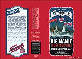 Narragansett Big Mamie Pale Ale beer Label Full Size