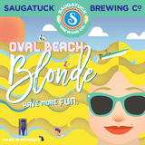 Saugatuck Oval Beach Blonde Beer