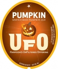 Harpoon UFO Pumpkin beer Label Full Size