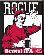 Rogue Brutal IPA beer Label Full Size