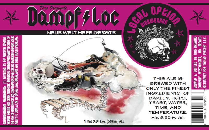 Local Option Dampf Loc beer Label Full Size