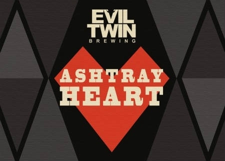Evil Twin Ashtray Heart beer Label Full Size