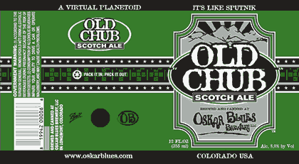 Oskar Blues Old Chub beer Label Full Size
