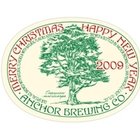 Anchor Merry Christmas Happy New Year beer Label Full Size