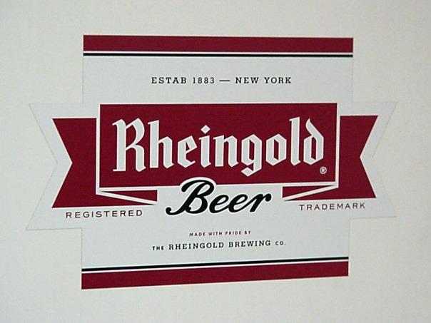 Rheingold beer Label Full Size
