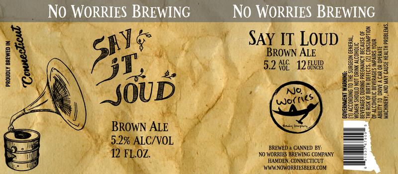 No Worries Say It Loud beer Label Full Size