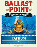 Ballast Point Fathom India Pale Lager beer
