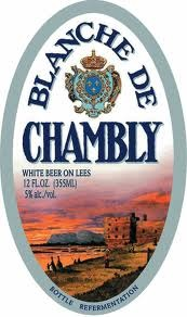 Unibroue Blanche De Chambly beer Label Full Size