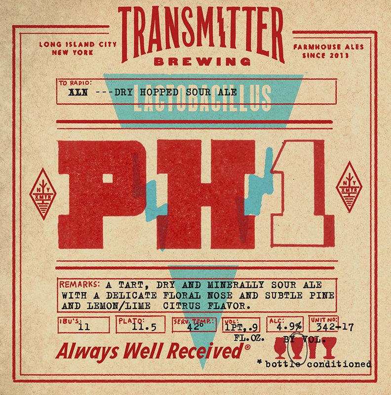 Transmitter PH1 Dry Hopped Sour beer Label Full Size