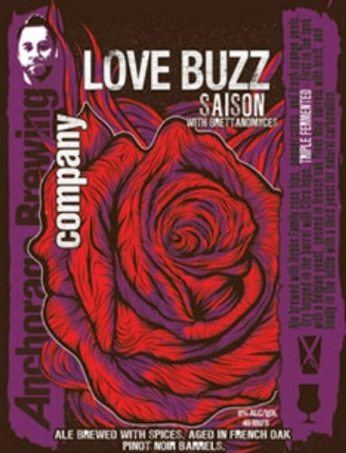 Anchorage Love Buzz beer Label Full Size